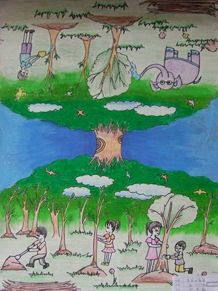 植树节图画画画